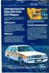 Click here to enlarge image and see more about item R7539: 1983 Ford LTD wagon ad