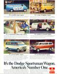 Click here to enlarge image and see more about item R7576: Dodge Sportsman Wagon ad   1976
