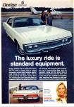 Click here to enlarge image and see more about item R7591: Dodge Monaco for 1970 ad LUXURY RIDE