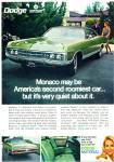 Click here to enlarge image and see more about item R7592: Dodge Monaco for 1970 ad MODESTY