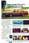 Click here to enlarge image and see more about item R7608: Ford LTD for 1980 ad