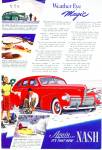 Click here to enlarge image and see more about item R7630: 1940 Nash CAR Promo AD ART Skating SIP