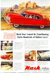Click here to enlarge image and see more about item R7632: 1954 NASH Airflyte Ambassador CAR AD