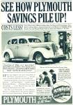 Click here to enlarge image and see more about item R7657: Plymouth automobile sales ad   1937