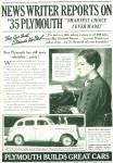 Click to view larger image of Plymouth  DeLuxe Sedan 1935 ad (Image2)