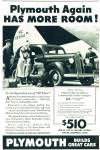 Plymouth automobile  ad 1936  ALL THREE