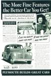 Click to view larger image of Plymouth automobile for 1940 ads 2 ADS (Image1)