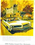 Click here to enlarge image and see more about item R7710: Pontiac Grand Prix automobile for 1966 ad