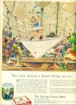Click here to enlarge image and see more about item R7740: 1951 Springs Cotton Mills ad CIRCUS ARTWORK