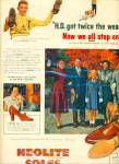 Click here to enlarge image and see more about item R7743: Neolite soles on shoes ad - 1950