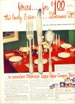 Click here to enlarge image and see more about item R7753: Pillsbury silverware set  sale ad  - 1949