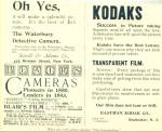 Click here to enlarge image and see more about item R7782: Blair's Film and Eastman Kodak Co. ad   1893