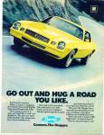 Click here to enlarge image and see more about item R7884: Chevrolet Camaro ad Z28 YELLOW Rally SPORT