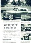 Chrysler Corporation ad - 1952