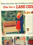 Click here to enlarge image and see more about item R7915: Lane Cedar chest  for Christmas ad - 1951