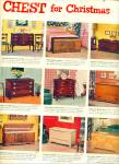 Click to view larger image of Lane Cedar chest  for Christmas ad - 1951 (Image2)