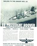 Click here to enlarge image and see more about item R7967: 1958 American President Lines SS Hoover Ship