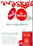 Click here to enlarge image and see more about item R8002: Pall Mall famous cigarettes ad  1965