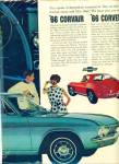 Click here to enlarge image and see more about item R8005: Corvair and Corvette automobiles for 1966 ad
