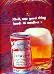 Click here to enlarge image and see more about item R8022: Budweiser beer ad  - 1947