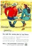 Bell Telephone system ad - 1957 SITTING PRETTY TOO