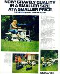 Click here to enlarge image and see more about item R8231: Gravely   Lawn Tractor ad = 1971