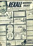Click here to enlarge image and see more about item R8235: Rexall DRUG OTC Toiletries DICK POWELL AD