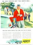 Click here to enlarge image and see more about item R8280: Hertz Rent a car - SAM SNEAD - ad