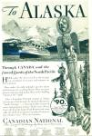 Click here to enlarge image and see more about item R8334: Canadian National railway ad - 1932 ALASKA