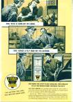 Click here to enlarge image and see more about item R8363: 1941 ETHYL GAS AD Service Man Pumping PUMP