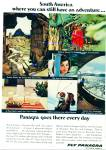 Click here to enlarge image and see more about item R8523: Fly  Panagra to South America ad - 1966