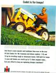 Click here to enlarge image and see more about item R8524: International Harvester Cub Cadet lawn mower