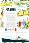 Click here to enlarge image and see more about item R8561: 1952 French Line FLANDRE GAY ENTREE SHIP AD