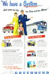 1947 Greyhound Bus Lines AD Family SAVE GAS