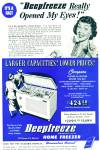 Click here to enlarge image and see more about item R8603: Deepfreeze home Freezxer ad - 1947
