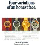 Click here to enlarge image and see more about item R8627: Bulova watches ad - 1971