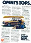 Dodge Omni auto for 1978 ad