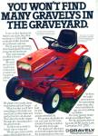 Click here to enlarge image and see more about item R8647a: Gravely lawn tractors ad - 1979