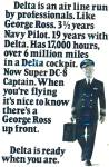 Click here to enlarge image and see more about item R8701: 1971 Delta airlines AD George Ross PILOT