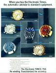 Click here to enlarge image and see more about item R8723: Timex watches ad 1971