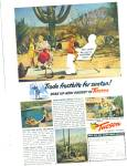 Click here to enlarge image and see more about item R8786: Tucson, Arizona brochure ad - 1953