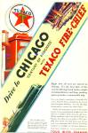 1933 Texaco Fire Chief gasoline AD GAS PUMP