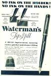 Click here to enlarge image and see more about item R8943: Waterman's tip fill pen ad  1933