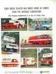 Click here to enlarge image and see more about item R8951: Go Camping with Dodge ad  1965