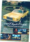 Chrysler Cordoba automobile 1978 ad