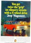 Click here to enlarge image and see more about item R8974: Jeep Wagoneer ad 1966