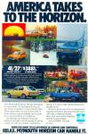 Click here to enlarge image and see more about item R8983: Plymouth Horizon ad  - 1978