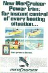 Click here to enlarge image and see more about item R8992: MerCruiser motor boats ad 1968