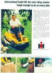 Click here to enlarge image and see more about item R9006: International Harvester riding mower ad -1969