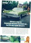 Click here to enlarge image and see more about item R9007: Dodge Monaco ad 1969